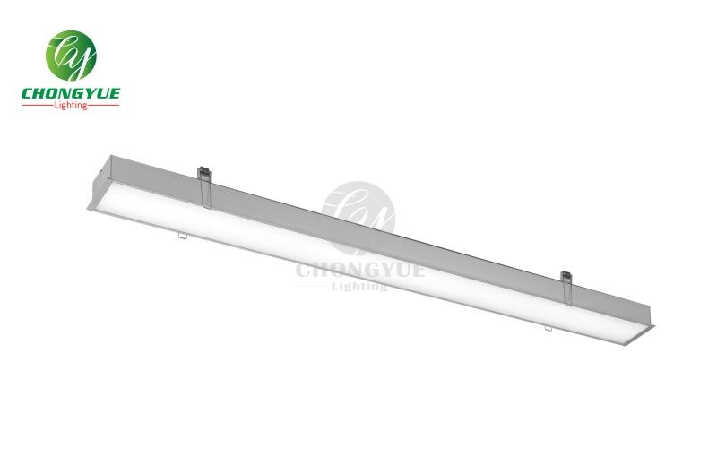 CE IP20 36W aluminum profile tube strip fixture recessed wall led linear light